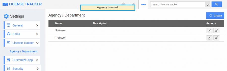 agency created
