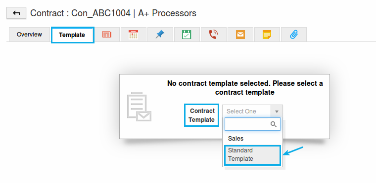 select contract template