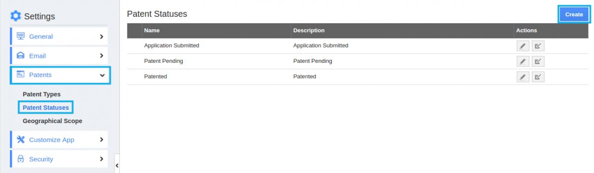 patent status