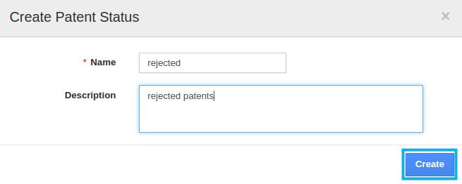 create patent status