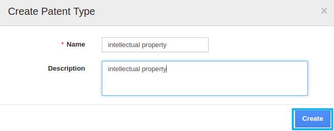 create patent type
