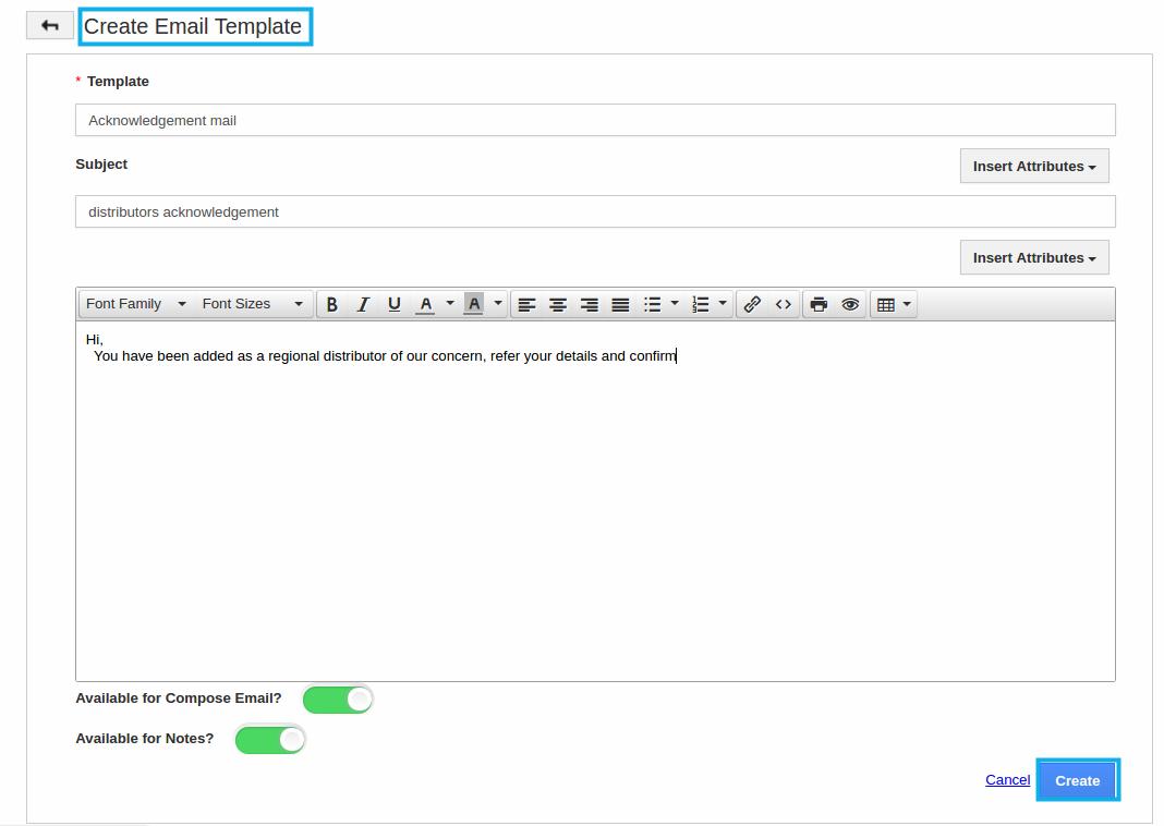create message template