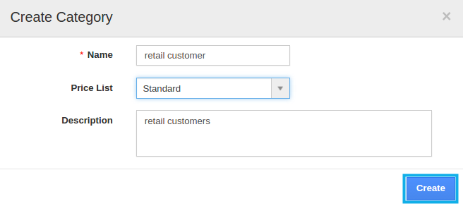 Create a Category in Distributors App