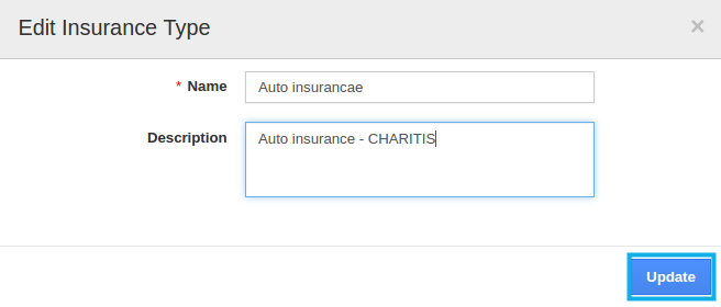 Edit insurance type