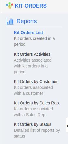 kit order reports