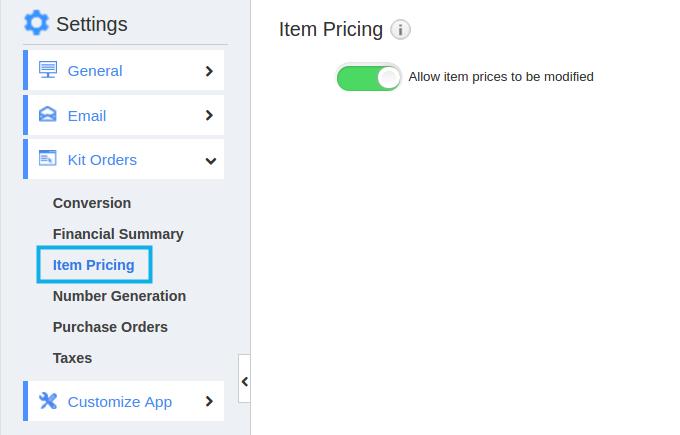 item pricing
