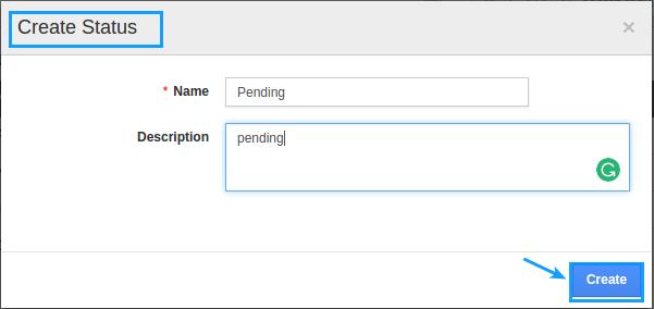 enter status name