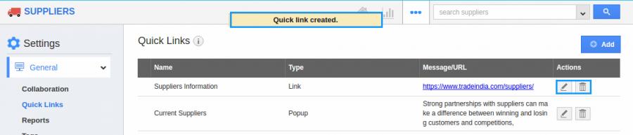 edit quicklinks
