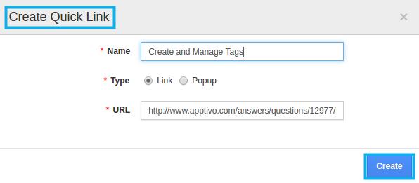 create quick links