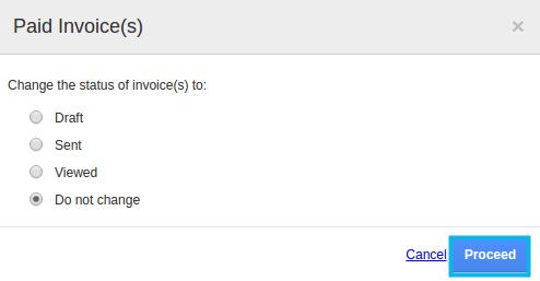 status of invoice title =
