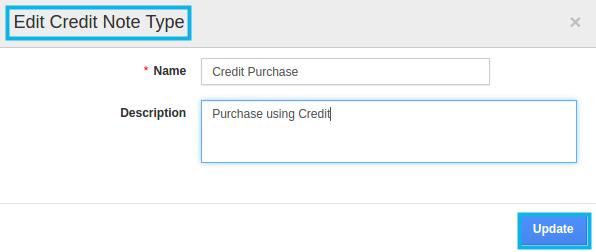 edit credit note type