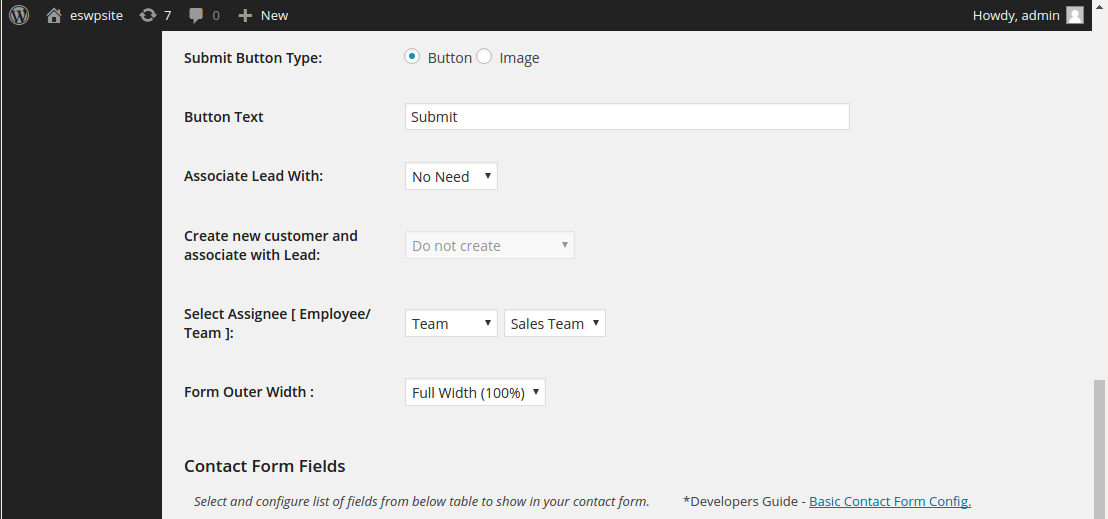 contact form configuration2