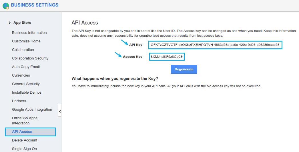 copy keys from apptivo