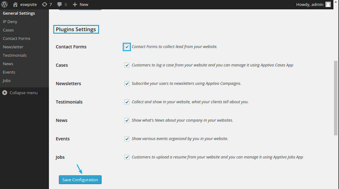 enable contact forms