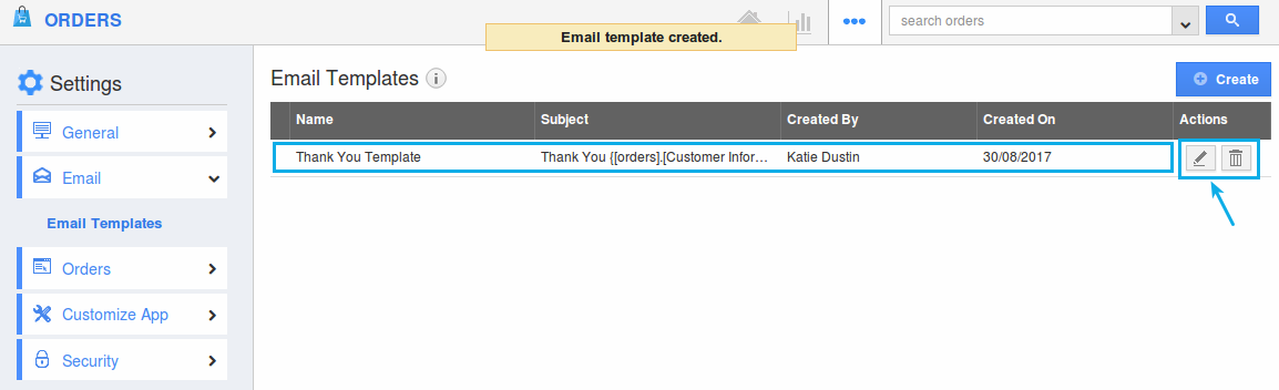 email templates created
