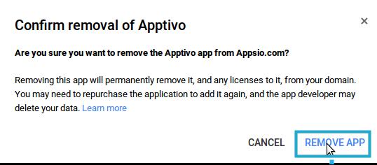 confirm app remove