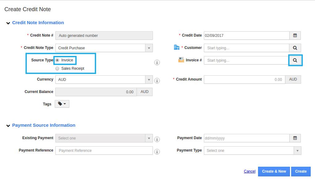 search invoice