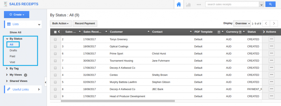 You Can View All Sales Receipts In The Dashboard.
