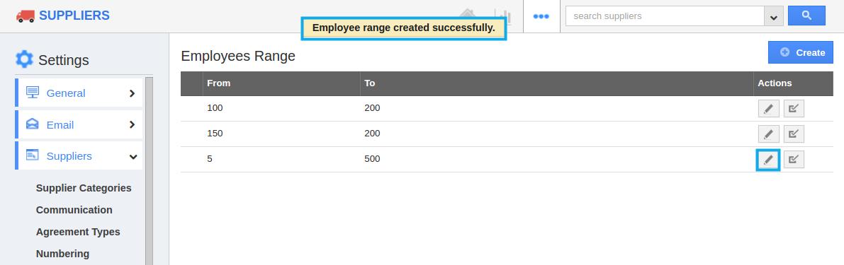 edit employee range