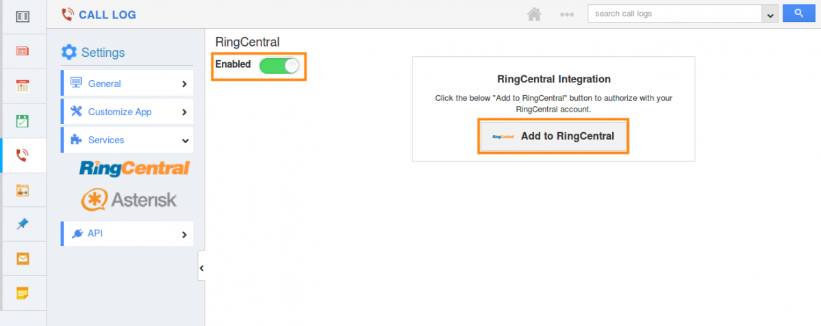 add to ringcentral