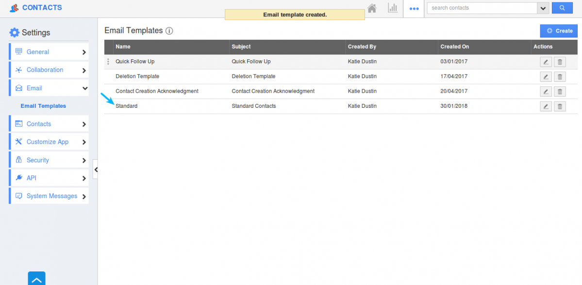 Create custom email templates in crm apps apptivo faq email template created pronofoot35fo Image collections