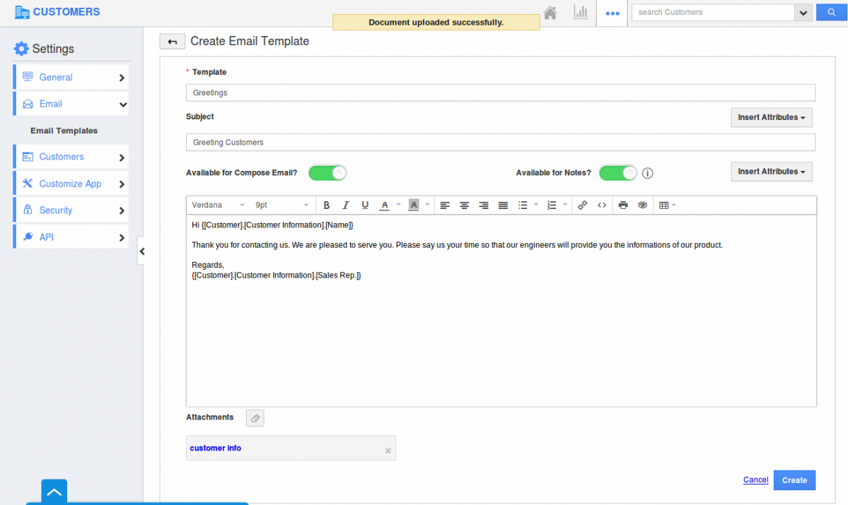 compose email template - create custom email templates in crm apps apptivo faq