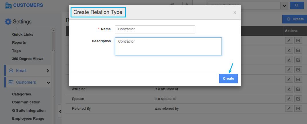relation type create