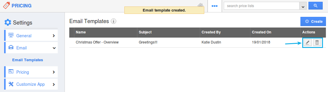 edit email template