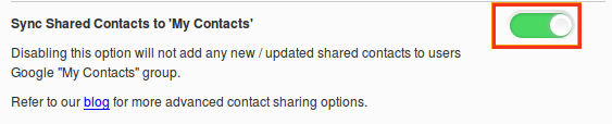 enable sync shared toggle