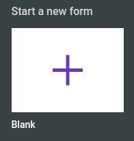start a new form