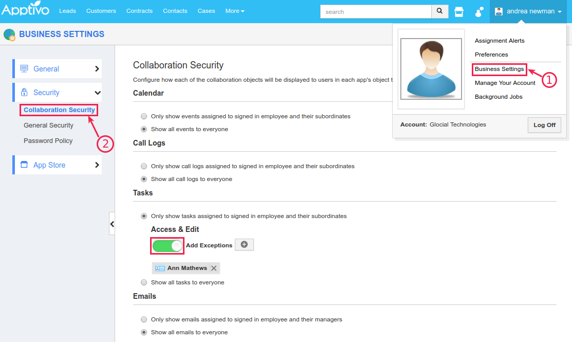 access level security collaboration