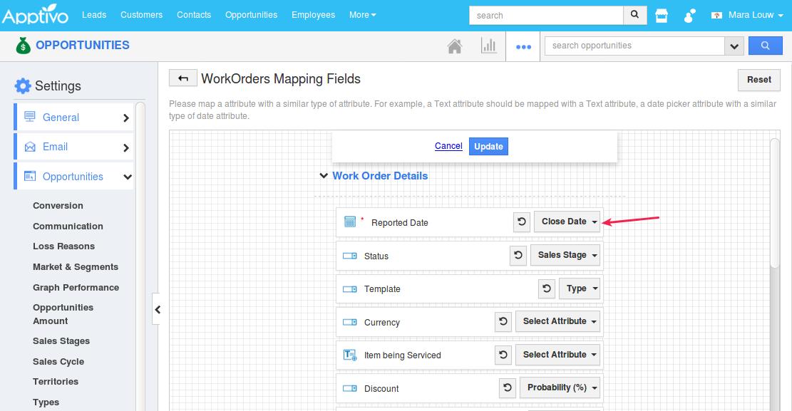 wo mapping
