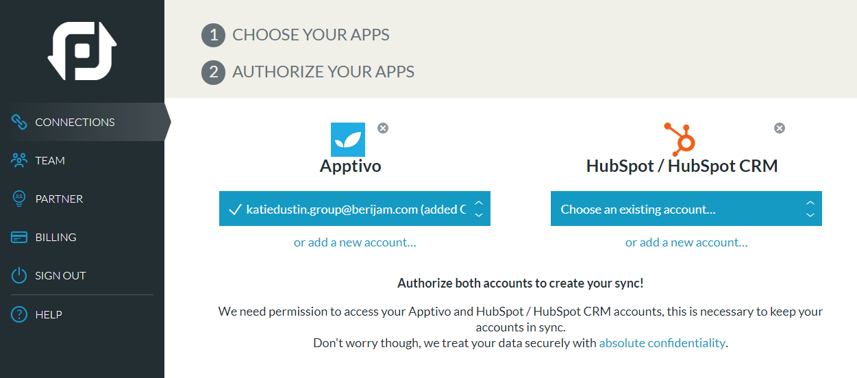 How can I sync contacts between Apptivo and HubSpot accounts