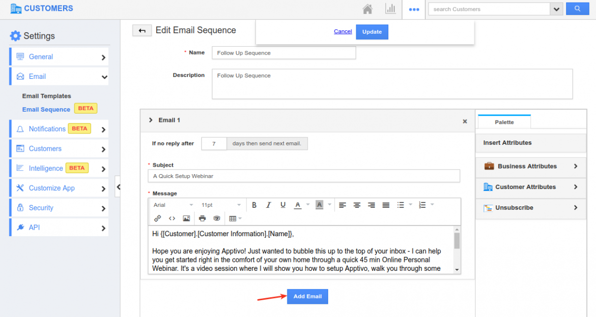 email sequence creation