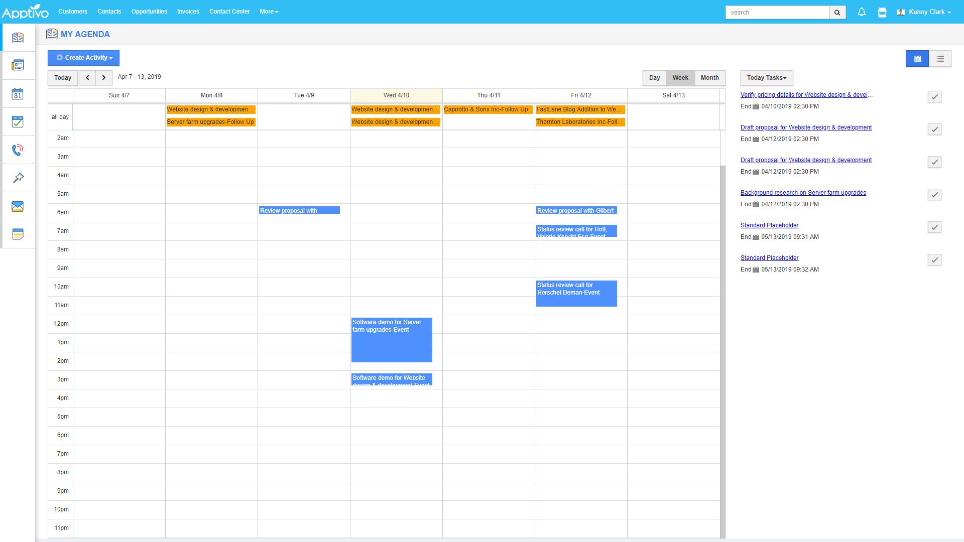My Agenda Screen