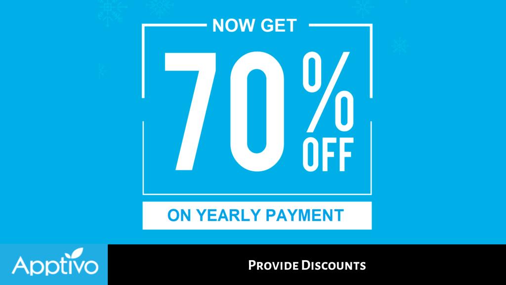 Provide Discounts