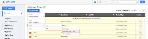Custom Table export