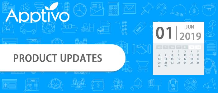 June 01, 2019 Product updates
