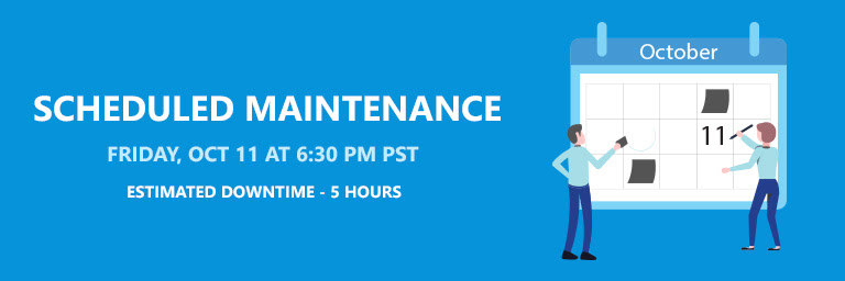 RESCHEDULED - Apptivo | Scheduled Maintenance on October 11, 2019 - Friday 6.30 PM PST