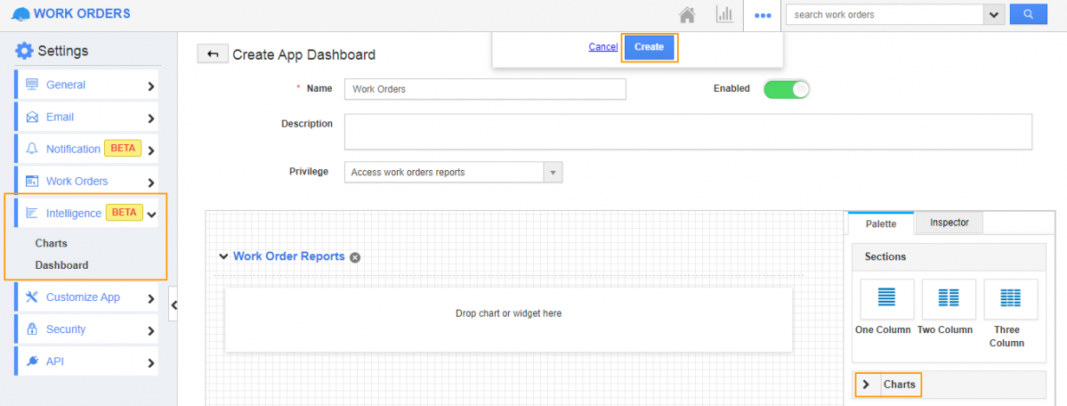 Work Order Intelligent Dashboard