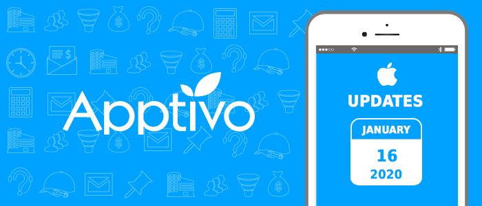 Apptivo Mobile Release Updates as of January 16, 2020 - iOS All-In-One Mobile App: V 6.2