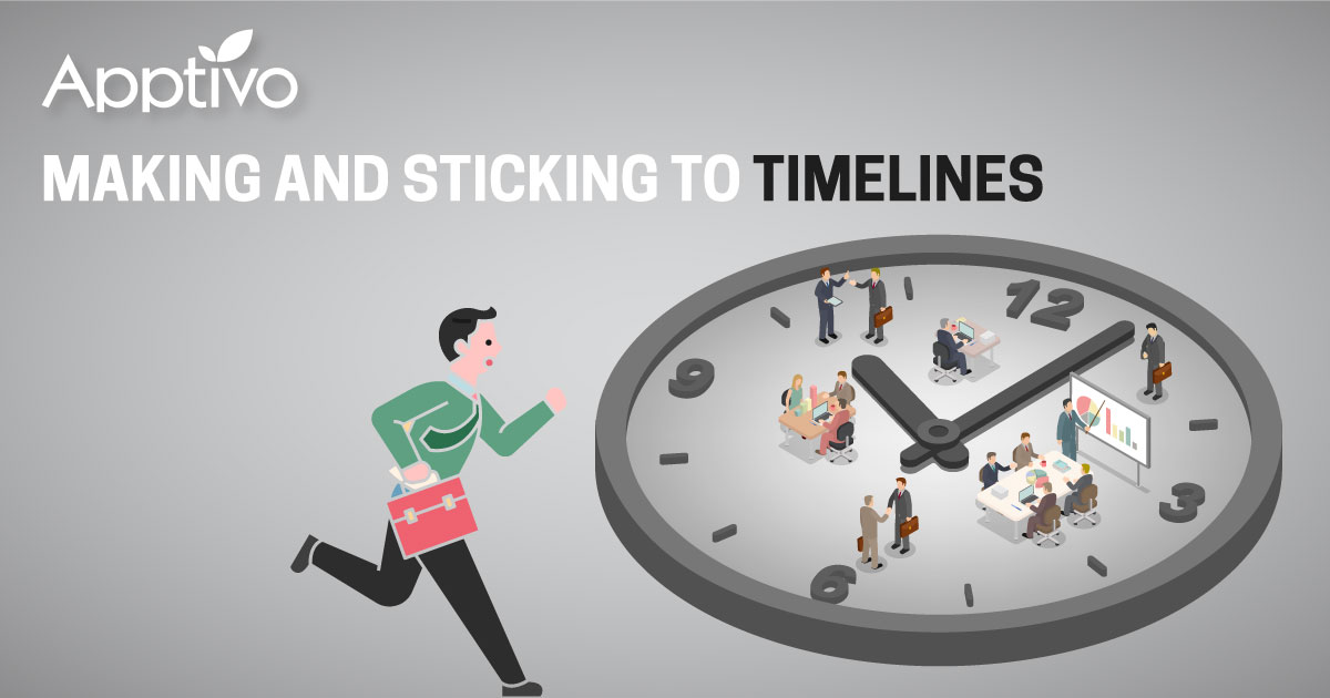 Making and sticking to timelines