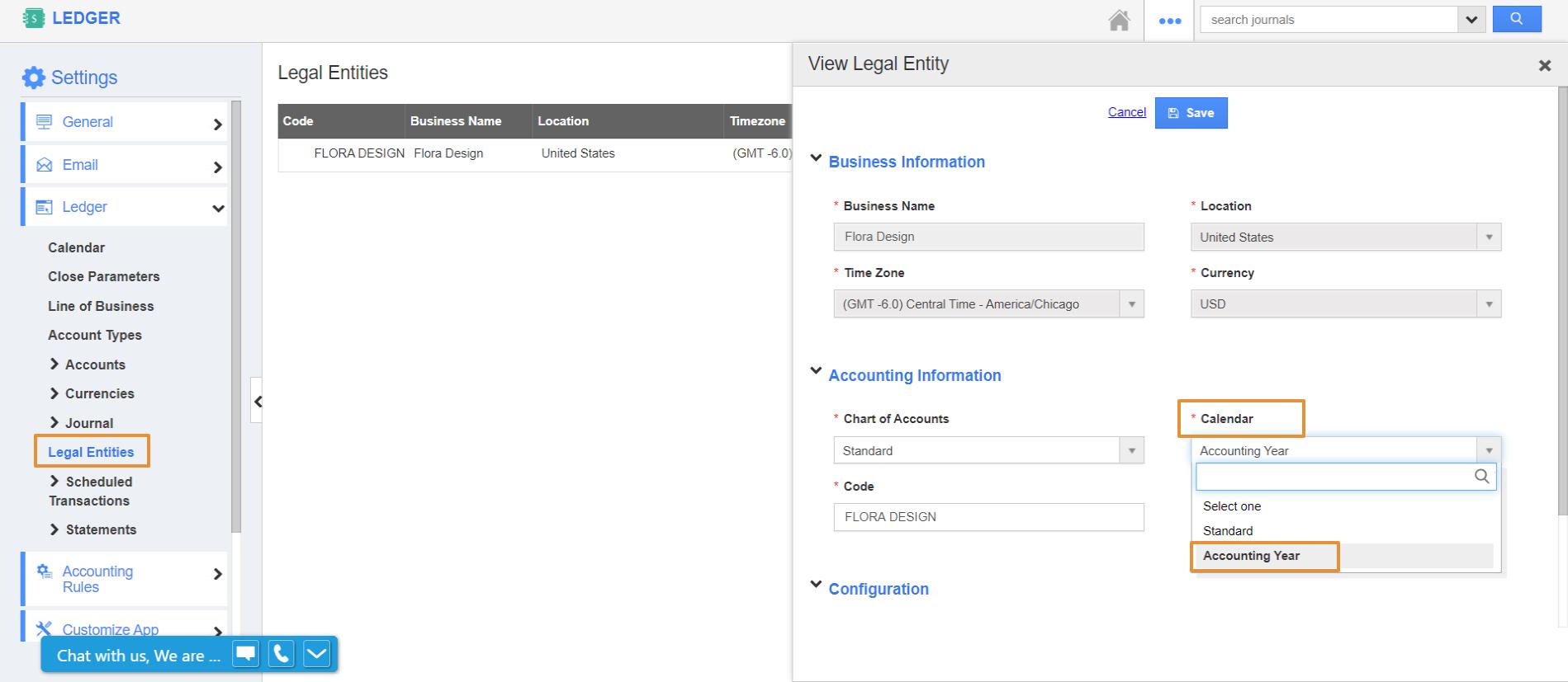 Accounting Calendar Update in Sales Planning App