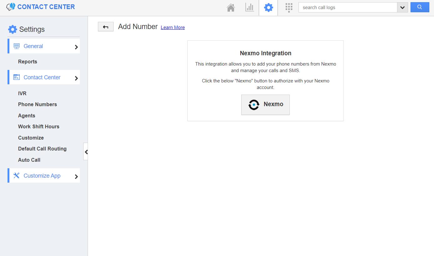 Integration with Nexmo