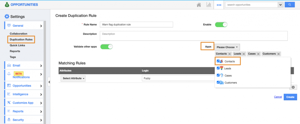 Enhanced Duplication Rules in Opportunities app