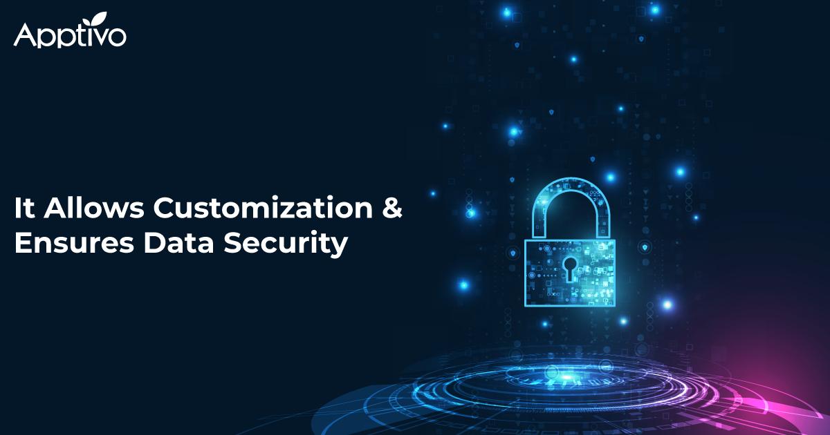 It Allows Customization & Ensures Data Security