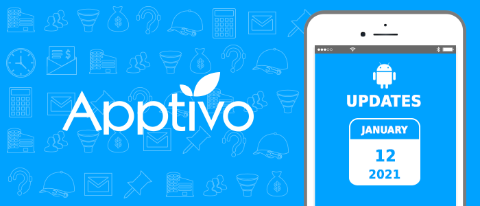 Apptivo Mobile Release Updates as of January 12, 2021 – Android All-In-One Mobile App: v6.2.3
