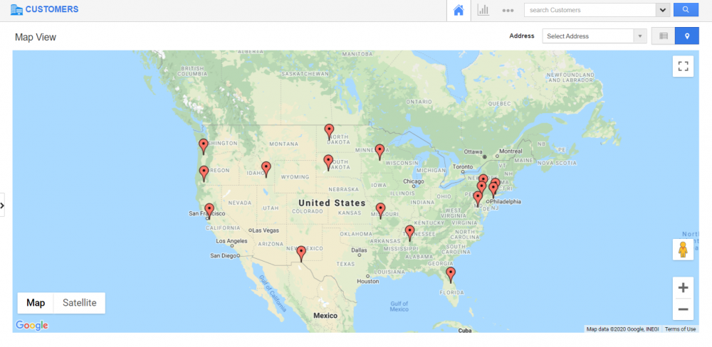 Comprehensive Map View