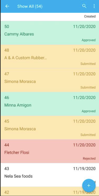 Incorporated Highlighting for Estimates app