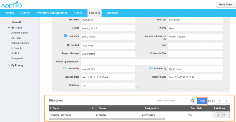 Interactive Customer Portal
